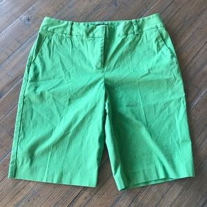 Talbots size 8P green shorts